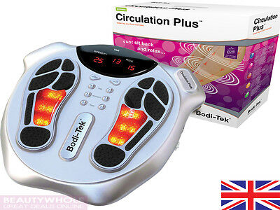 Bodi-Tek Circulation Plus Booster Foot Massager & Remote Control 2 Yr Warranty