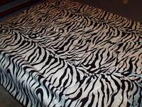 DOuble sized zebra sheet set