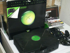 XBOX original with games and box