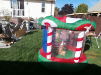 1 blow up merry go round for decor Christmas asking $30 450-628-