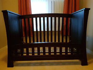 Crib (solid wood) by Baby's Dream + toddler bed + opt to twin
