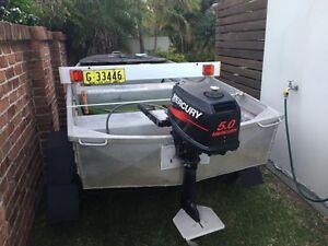 12ft Tinnie 5hp mercury motor Port Macquarie Port Macquarie City Preview
