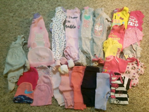 Cute Baby Girl 0-3 Month Clothes Lot