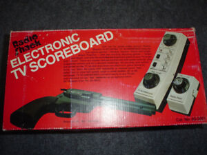 FACTORY SEALED VINTAGE RADIO SHACK TV ELECTRONIC SCOREBOARD