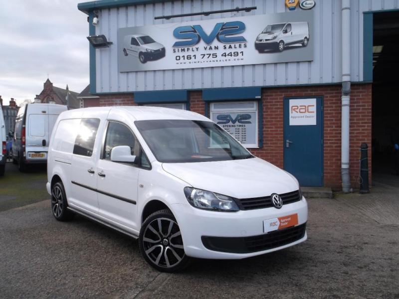 13reg Vw Caddy Maxi Lwb Kombi Crew Van Sportline R Line Looks Black White Ltd