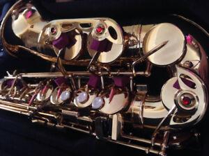 Yamaha yas 875 ex gold saxophone g1 neck NEW