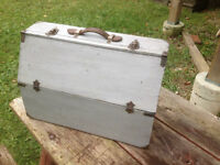 OLD HAND MADE WOODEN TOOL BOX