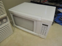 moving sale, microwave