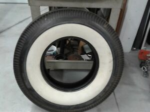 4 Wide Whitewalls 8.20x15 inch tires Firestone WWW