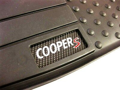 5 Pc OEM MINI Cooper Countryman R60 Rubber Floor Mat Set Cooper S Logo Badge