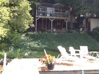 CHESLEY LAKE-  WATERFRONT Cottage