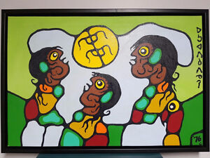 Norval Morrisseau Original Acrylic on Canvas For Auction Sunday!
