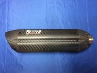 Carbon fibre exhaust for motorcycle with db killer