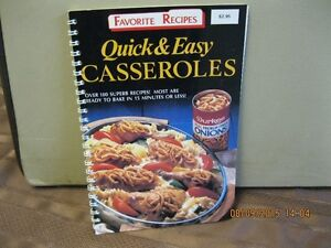 FAVORITE RECIPES   QUICK & EASY  CASSEROLES