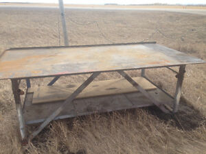 HD oversize welding or shop table