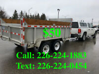 Rent the Dump Trailer & Truck with Driver-24/7