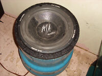diy subs 2 different 15 inch speaker tubes mach woof 6ohm and