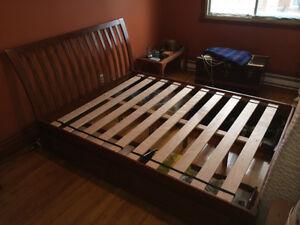 base de lit queen avec tiroirs 4 et t te de lit lits