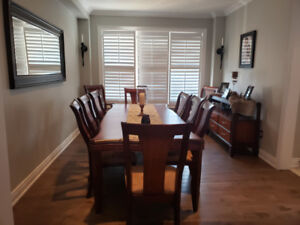 12 piece (SOLID WOOD) Dining Furniture For Sale