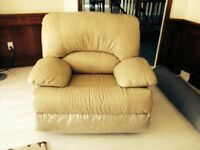 Leather Salmon Colour Recliner