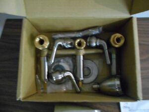 Olympic three handle tub and shower set