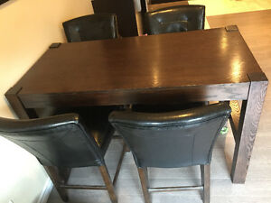 Wood Dining table 4 chairs