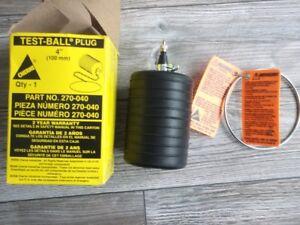 Brand New Cherne 270040 Test-Ball 4-Inch Plug.