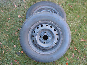 """2 - 14"""" wheels with tires"""