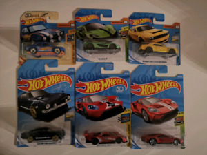 Hotwheels car models - McLaren P1, Challenger Demon, 70' Ford Co