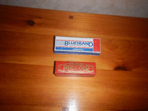 2 Vintage Harmonica Piccolo et BluesBand A Voir