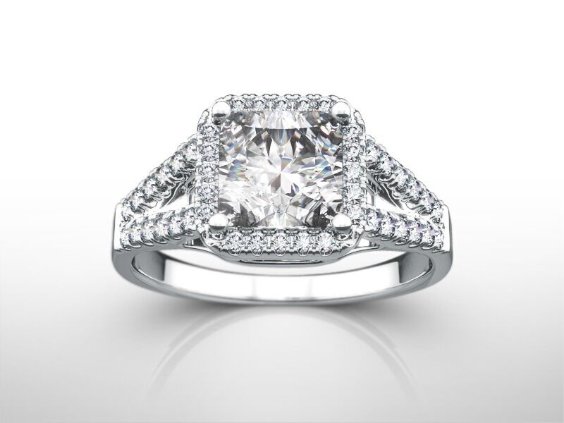 Real 2.50 Carat Princess  E/vs1  Enhanced Diamond Engagement Ring Jewelry