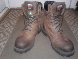 """(TIMBERLAND) PRO 8"""" BOOTS-SZ 12-(WORN 2-3X)-PD$160+TX-(ONLY $75)"""