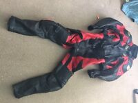 "Frank Thomas Leathers Leather Mens 46 Euro 36"" waist 56 46"" chest"