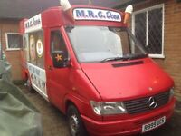 Mercedes sprinter mwb soft ice cream van