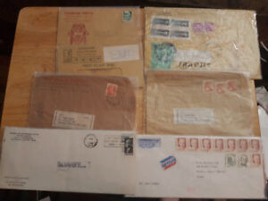 Old envelopes with stamps