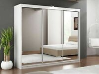Decore your dreams-LUX 3 SLIDING DOORS WARDROBE IN 250CM SIZE-flat packed