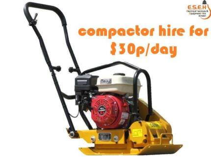 60kg and 100kg compactor hire for $30 per day