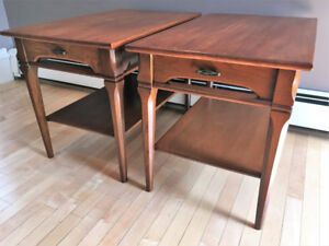 Set of Mid-Century Modern End Tables (Ash)