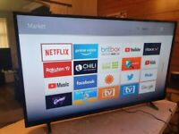 Brand new boxed luxor 50 inch smart 4k uhd hdr led tv with wifi, apps,