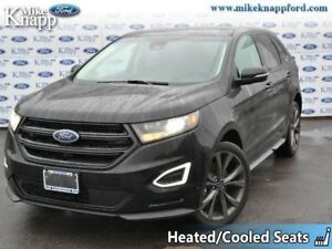 2018 Ford Edge Sport AWD  Roof, Adapt Cruise, Leather
