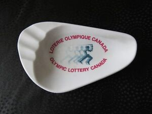 1975  Loterie Olympique Canada cendrier Ashtray Cdn Olympic Loto