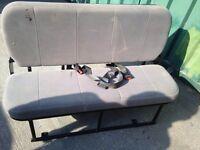 Bench seat for van camper