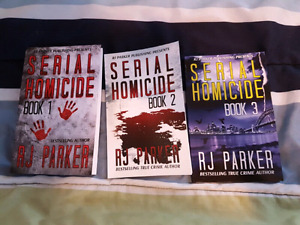 3 serial homicide books by RJ Parker