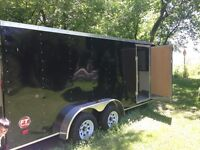 2014 Wells Cargo FT wedge 7x16 enclosed trailer