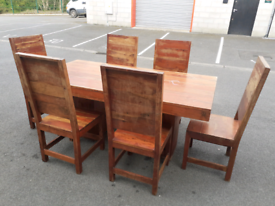 Solid Dining Table and 6 Chairs (perfect for upcycling)