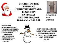 Church of the Epiphany Christmas Bazaar and Luncheon