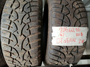 2 winter Tires 205/60 R16 ***JUST $40 ***