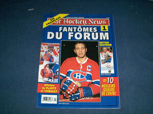 THE HOCKEY NEWS-FANTOMES DE FORUM-JEAN BELIVEAU-PLANTE +