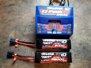 Traxxas dual charger and lipos