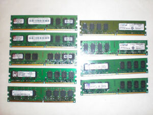 Memory ddr2,5300 or 6400 ,1G 4$_2G 10$___Laptop ddr333, 2x512